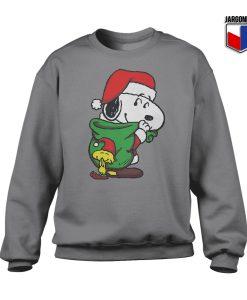 Santa Snoopy Crewneck Sweatshirt