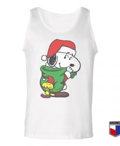 Santa Snoopy Unisex Adult Tank Top