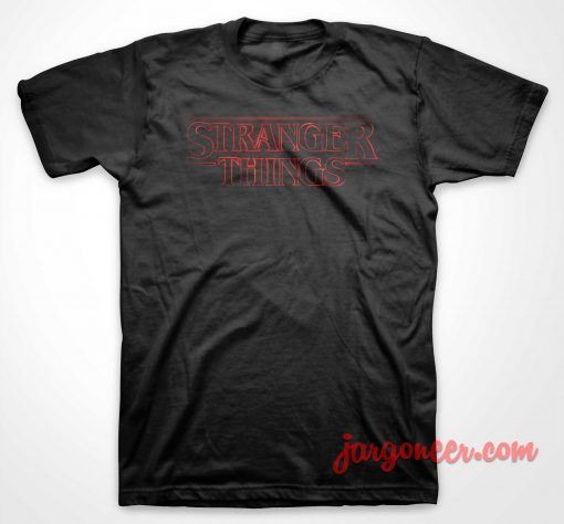 Stranger Things Logo T Shirt