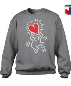 Haring Heart Crewneck Sweatshirt