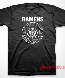 Ramones Ramens Parody T-Shirt