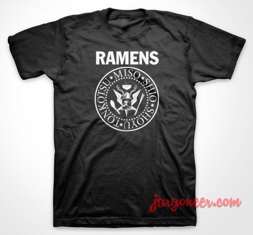 Ramones Ramens Parody T Shirt