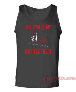 The Gym Is My Battlefield Unisex Adult Tank Top