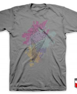 Water Color Ice Cream T-Shirt