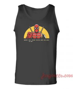 All Your Tacos Deadpool Unisex Adult Tank Top