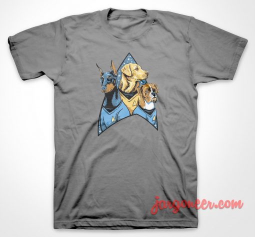 Bark Trek Parody T Shirt