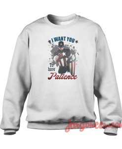 Captain America Wont You Crewneck Sweatshirt