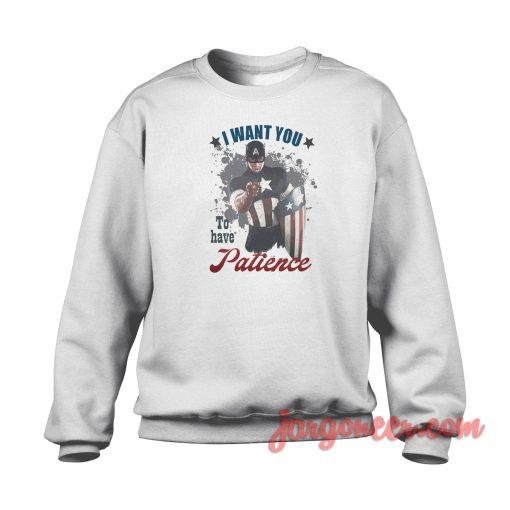 Captain America Wont You Crewneck Sweatshirt