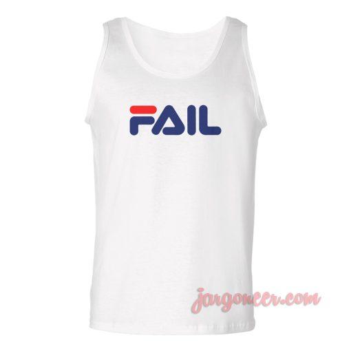 Fila Fail Parody Unisex Adult Tank Top
