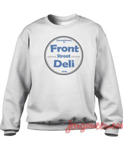 Front Street Deli Blue Crewneck Sweatshirt