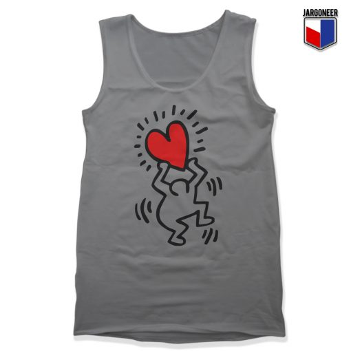 Haring Heart Unisex Adult Tank Top