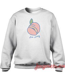 Just Peachy Crewneck Sweatshirt