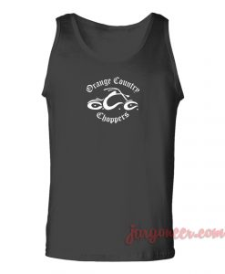 Orange Country Chopper Unisex Adult Tank Top