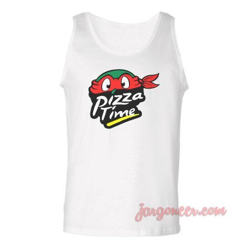 Pizza Time Turtle Unisex Adult Tank Top