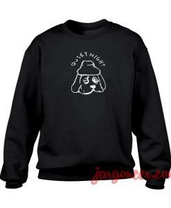 Quiet Night Dog Crewneck Sweatshirt
