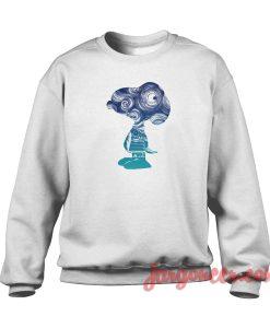 Snoopy Stormy Night Crewneck Sweatshirt