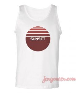 Sunset Logo Unisex Adult Tank Top