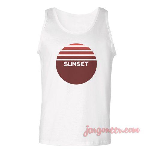 Sunset Logo Unisex Adult Tank Top