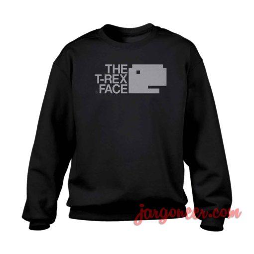 T-rex Face Crewneck Sweatshirt