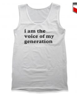 The Voice Of My Generation Unisex Adult Tank Top
