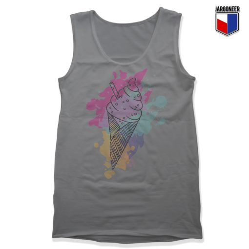 Water Color Ice Cream Unisex Adult Tank Top