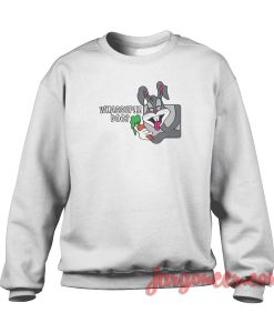 Whassup Doc Rabbit Crewneck Sweatshirt