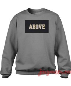 Above Black Box Crewneck Sweatshirt