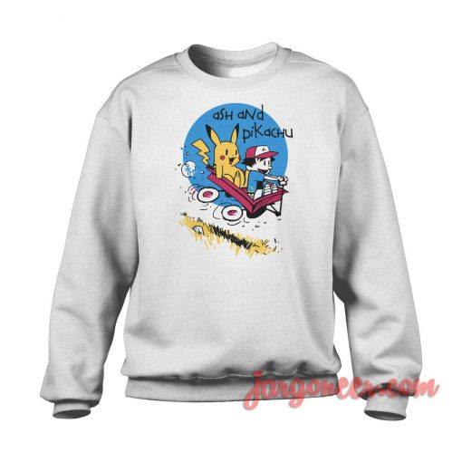 Ash And Pika Parody Crewneck Sweatshirt