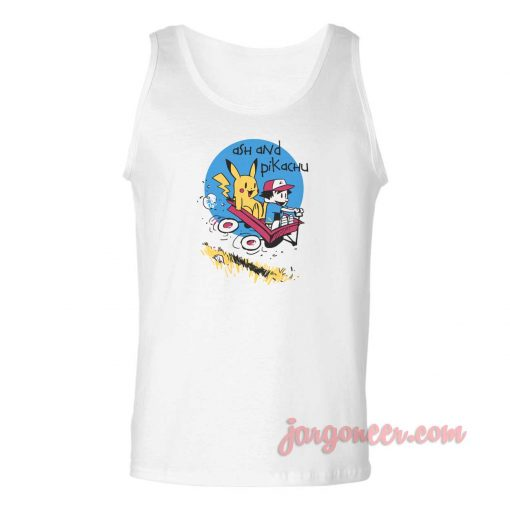 Ash And Pika Parody Unisex Adult Tank Top