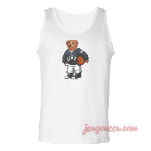 Bear Basket Unisex Adult Tank Top