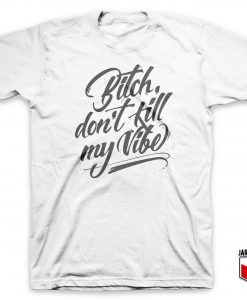 Bitch Vibe Slogan T-Shirt