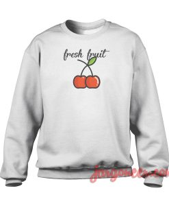 Cherry Fresh Fruit Crewneck Sweatshirt