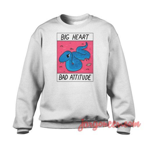 Big Heart Bad Attitude Crewneck Sweatshirt