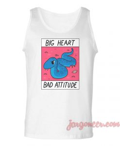 Big Heart Bad Attitude Unisex Adult Tank Top