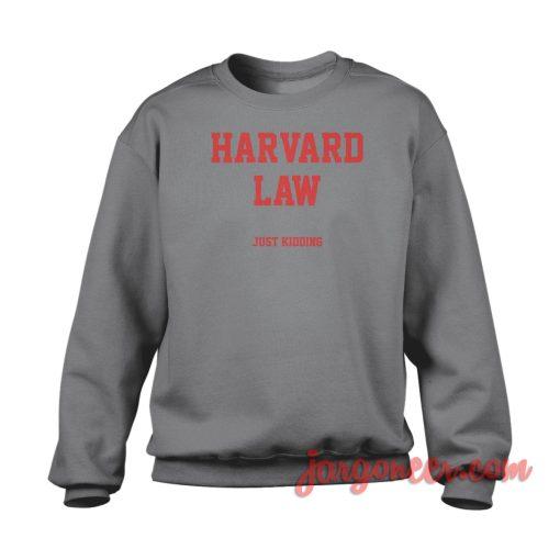 Harvard Law Crewneck Sweatshirt