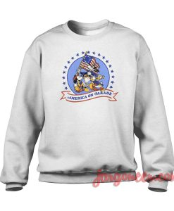 Mickey On America Parade Crewneck Sweatshirt