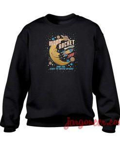 Moon Rocket Vintage Crewneck Sweatshirt