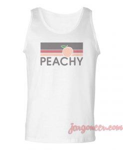 Peachy Retro Vintage Unisex Adult Tank Top