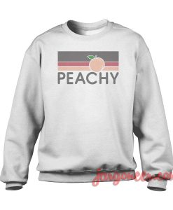 Peachy Vintage Retro Crewneck Sweatshirt