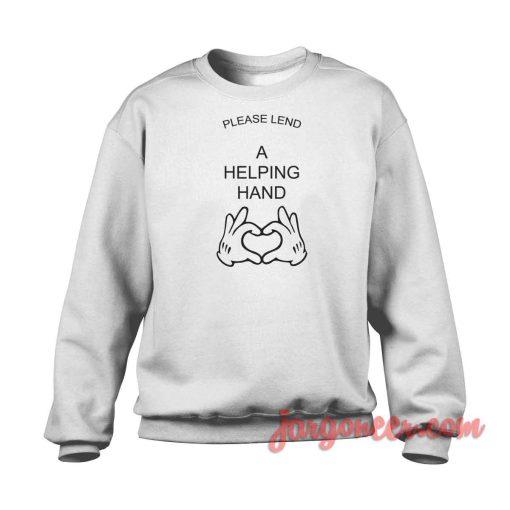 Please Land A Helping Hand Crewneck Sweatshirt