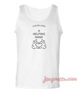 Please Land A Helpng Hand Unisex Adult Tank Top
