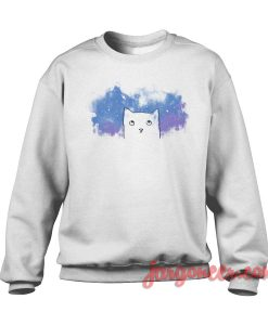 Space Cat Crewneck Sweatshirt