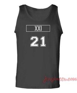 XXI 21 Unisex Adult Tank Top