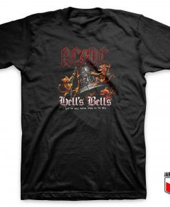 Cool ACDC Hell's Bells T Shirt Design