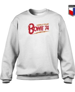 Bowie World Tour 74 Crewneck Sweatshirt