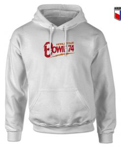 Bowie World Tour 74 Hoodie Design