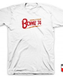 Cool Bowie World Tour 74 T Shirt Design