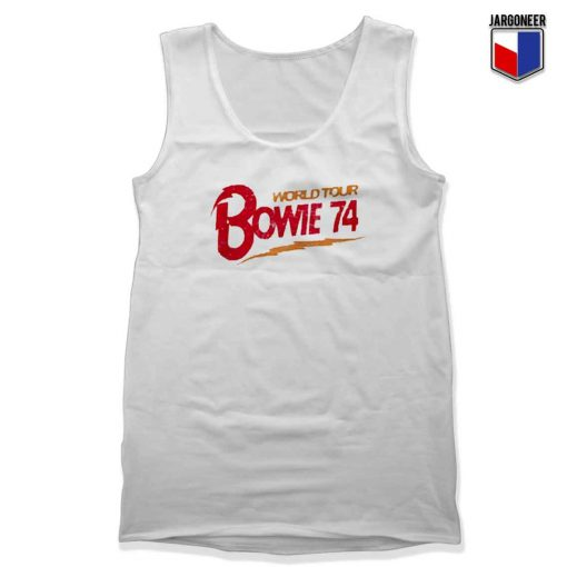 Bowie World Tour 74 Unisex adult Tank Top Design