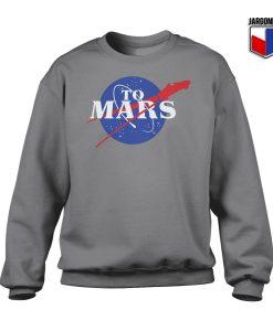 Nasa To Mars Crewneck Sweatshirt