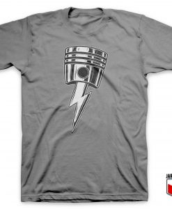 Cool Lightning Bolt Piston T Shirt Design